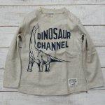 【CHANNEL】チャンネル 恐竜 ブラキオサウルス 長袖Tシャツ 杢グレー (8415-MG)