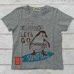 【ALMOND BAR】アーモンドバー アメカジ ロゴ 半袖Tシャツ 杢グレー (12201-MG)