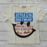 【ALMOND BAR】アーモンドバー アメカジ ロゴ 半袖Tシャツ アイボリー (12203-IV)
