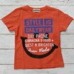 【ALMOND BAR】アーモンドバー アメカジ ロゴ 半袖Tシャツ オレンジ (12203-OR)