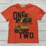 【ALMOND BAR】アーモンドバー アメカジ ロゴ 半袖Tシャツ オレンジ (12209-OR)