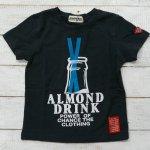 【ALMOND BAR】アーモンドバー アメカジ ロゴ 半袖Tシャツ ブラック (12210-BK)