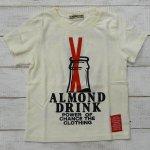 【ALMOND BAR】アーモンドバー アメカジ ロゴ 半袖Tシャツ アイボリー (12210-IV)