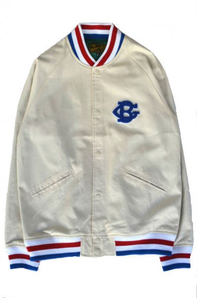 BENNY GOLDBASEBALL COTTON TWILL JACKETOFF WHITE