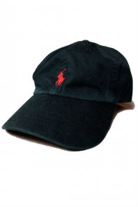 <font size=5>RALPH LAUREN</font><br>CLASSIC SPORTS CAP<br>BLACK