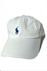 <font size=5>RALPH LAUREN</font><br>CLASSIC SPORTS CAP<br>WHITE