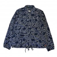 <font size=5>Herschel Supply Co</font><br>VOYAGE COACH JACKET Forest Night Keith Haring<br>Navy<br><img class='new_mark_img2' src='https://img.shop-pro.jp/img/new/icons47.gif' style='border:none;display:inline;margin:0px;padding:0px;width:auto;' />