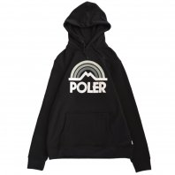 <font size=5>POLER</font><br>Mountain Rainbow Hoodie<br>Black<br>