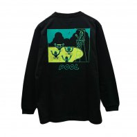 <font size=5>RUTSUBO 坩堝</font><br>Pool L/S T-Shirts (RUTSUBO×YUSUDA)<br>Black<br>