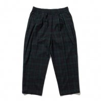 <font size=5>RUTSUBO 坩堝</font><br>TARTAN EASY PANTS<br>Black/Green<br>