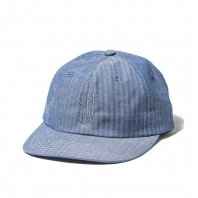 <font size=5>RUTSUBO 坩堝</font><br>坩堝 YARN DYED CHAMBRAY 6PANEL CAP<br>Blue<br>