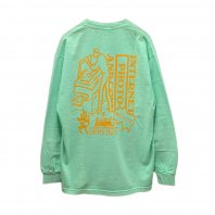 <font size=5>SAYHELLO</font><br>OFFICE GARMENT DYED L/S TEE<br>SMOKE MINT<br>