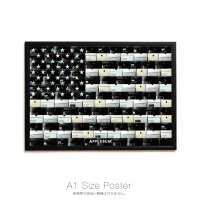 <font size=5>APPLEBUM</font><br>Black Stars and Stripes A1 Poster<br> Black<br>