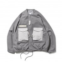 <font size=5>TBPR</font><br>COLLARLESS FIELD JKT<br>Grey<br>