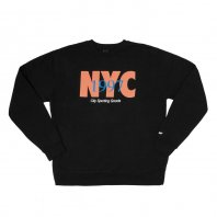 <font size=5>ONLY NY</font><br>NYC Track Crewneck<br>Black<br>