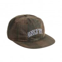<font size=5>ONLY NY</font><br>Waxed Cotton Collegiate Polo Hat<br>Olive Plaid<br>