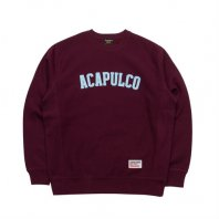 <font size=5>ACAPULCO GOLD</font><br>STANDARD LOGO SWEAT<br>BURGUNDY<br>