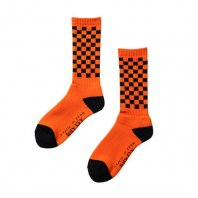 <font size=5>RUTSUBO 坩堝</font><br>CHECKER SOCKS<br>WHITE/SKY<br>