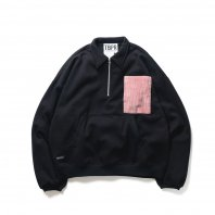 <font size=5>TBPR</font><br>PAT HALF ZIP SWEAT(TIGHTBOOTH / PATS PANTS)<br>BLACK<br>
