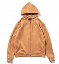 <font size=5>APPLEBUM</font><br>Synthetic Suede Zip Parka<br>SAND<br>