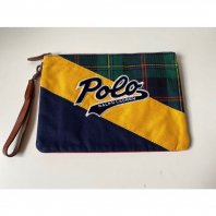 <font size=5>POLO Ralph Lauren</font><br>Patchwork clutch bag<br>Navy<br>