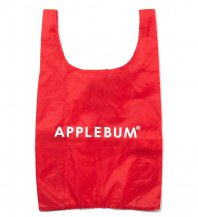 <font size=5>APPLEBUM</font><br>Reusable Shopping Bag<br>Red<br>