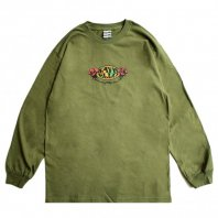 <font size=5>SAYHELLO</font><br>Hard Rock L/S Tee<br>Military Green<br>