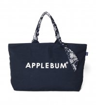 <font size=5>APPLEBUM</font><br>Paisley Handle Zip ToteBag<br>Navy<br>