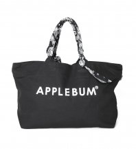 <font size=5>APPLEBUM</font><br>Paisley Handle Zip ToteBag<br>Black<br>