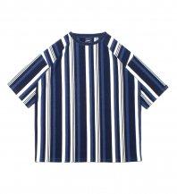 <font size=5>APPLEBUM</font><br>Indigo Stripe Big T-shirt<br>Indigo Navy Stripe<br>