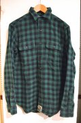 『RALPH LAUREN』<br>BLOCKCHECK FLANNEL SHIRTS<br>GREEN / BLACK<br>Sサイズ<img class='new_mark_img2' src='https://img.shop-pro.jp/img/new/icons47.gif' style='border:none;display:inline;margin:0px;padding:0px;width:auto;' />