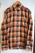 『Delicious』<br>Plaid Check Shirt<br>Orange<br>Mサイズ<img class='new_mark_img2' src='https://img.shop-pro.jp/img/new/icons47.gif' style='border:none;display:inline;margin:0px;padding:0px;width:auto;' />