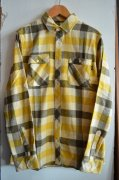 『Benny Gold』<br>CABIN FLANNEL L/S BUTTON-UP SHIRTS<br>MUSTARD<br>M