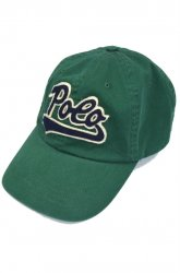 『RALPH LAUREN』<br>Script Logo Cap<br>GREEN<img class='new_mark_img2' src='//img.shop-pro.jp/img/new/icons50.gif' style='border:none;display:inline;margin:0px;padding:0px;width:auto;' />