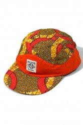 『SaturDIY』<br>6 PANEL CAP ( AFRICA )<br>ORANGE