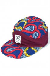 『SaturDIY』<br>6 PANEL CAP ( AFRICA )<br>WINE