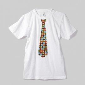 ★アウトレット30%OFF★【パパ】半袖Tシャツ「FUN DOTS TIE」Sサイズ(親子ペア服)