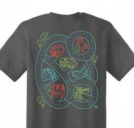 【ママ】半袖Tシャツ「Car Play Mat」 (親子おそろい服・オーガニックパパ別注)