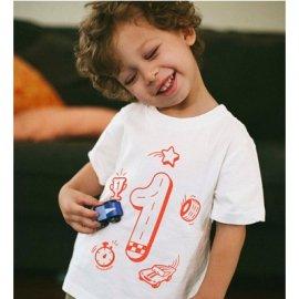 【キッズ】半袖Tシャツ「1歳Tシャツ(バースデーTシャツ)」 (親子おそろい服)
