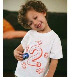 ★500円OFF★【キッズ】半袖Tシャツ「2歳Tシャツ(バースデーTシャツ)」 2T