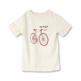 【キッズ】半袖Tシャツ「MTB」オーガニックコットン (親子リンクコーデ・OrganicPAPAオリジナル)