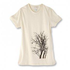 【ママ】半袖Tシャツ「TREE」オーガニックコットン(親子おそろい服) Mサイズ