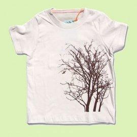 【キッズ】半袖Tシャツ「TREE」オーガニックコットン(親子おそろい服) 6T