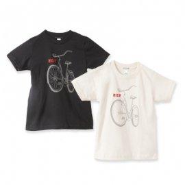<img class='new_mark_img1' src='https://img.shop-pro.jp/img/new/icons55.gif' style='border:none;display:inline;margin:0px;padding:0px;width:auto;' />【キッズ】半袖Tシャツ「BIKE」オーガニックコットン(親子おそろい服)