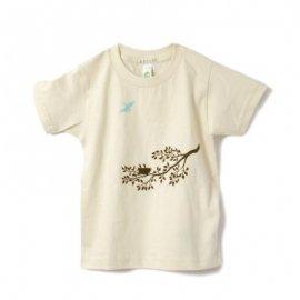 【キッズ】半袖Tシャツ「TWIG」オーガニックコットン(親子おそろい服) 6T