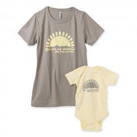 <img class='new_mark_img1' src='https://img.shop-pro.jp/img/new/icons55.gif' style='border:none;display:inline;margin:0px;padding:0px;width:auto;' />【パパ】半袖Tシャツ「You Are My Sunshine」 (親子リンクコーデ・OrganicPAPA別注)