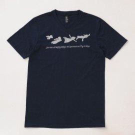 【オトナ】半袖Tシャツ「Peter Pan」(親子リンクコーデ・OrganicPAPA別注)