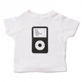 【キッズ】半袖Tシャツ「Cassette and iPod」 (親子リンクコーデ・OrganicPAPA別注)