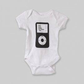 【ベビー】半袖ロンパース「Cassette and iPod」(親子おそろい服)