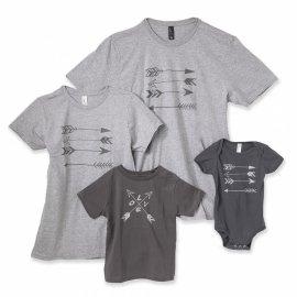 【キッズ】半袖Tシャツ「Arrow Love」 (親子ペアTシャツ)